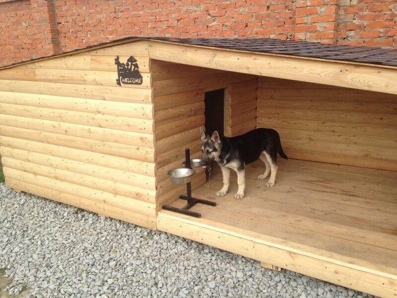 Будка с тамбуром для собаки